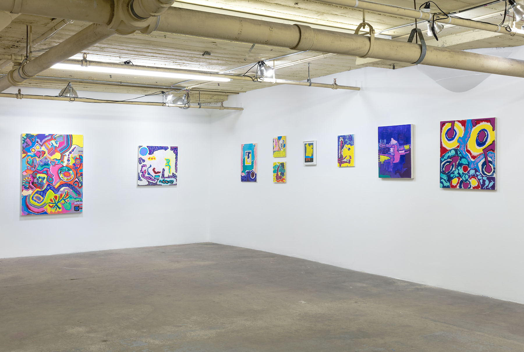 Wayne koestenbaum a novel of thank you and other paintings 2016 exhibition view at 356 mission